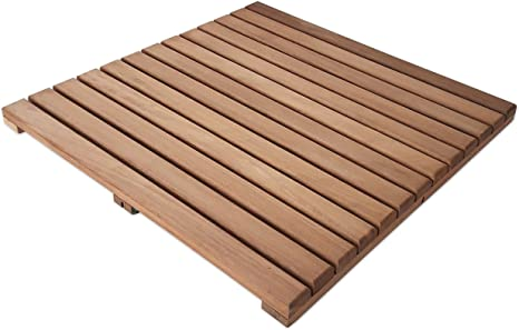 Loseta rígida en madera de teca sin tratar - Suelo exterior: Amazon.es: Bricolaje y herramientas