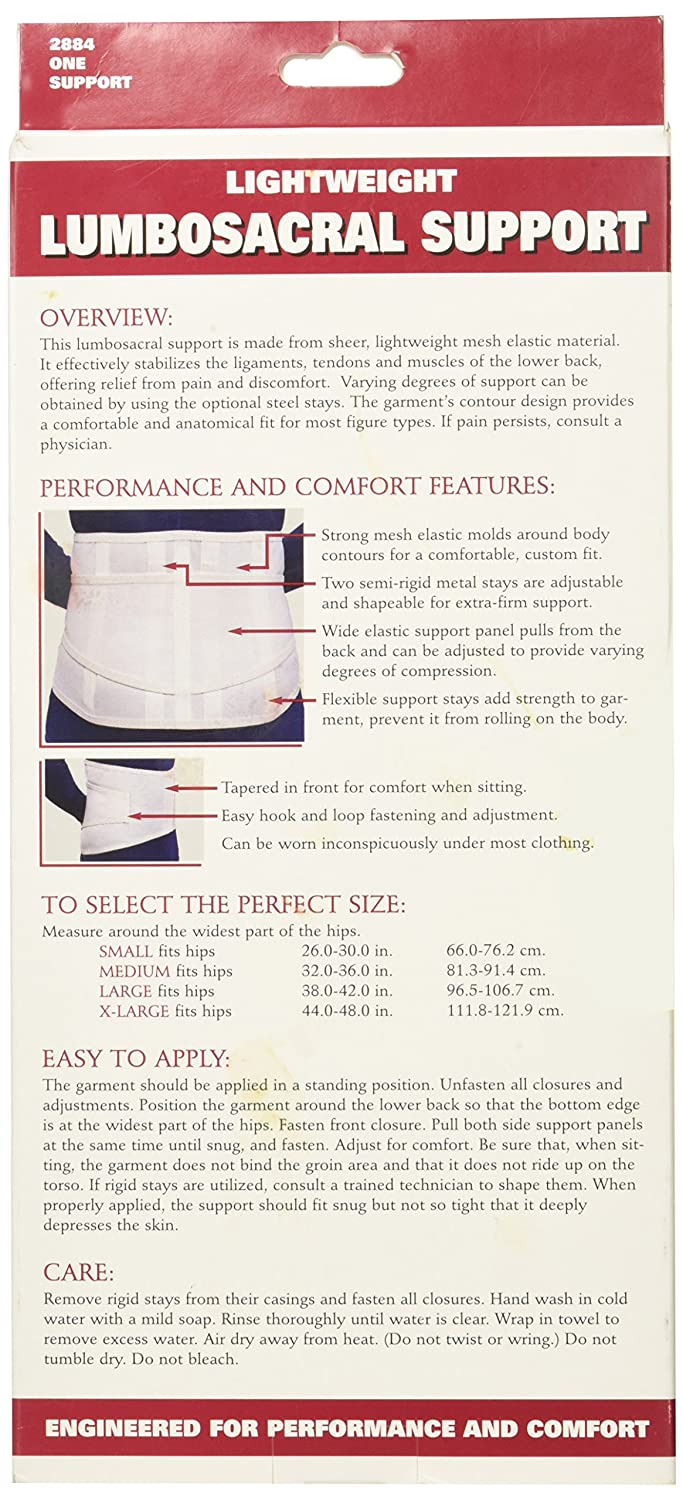 Amazon.com: OTC Lumbo-Sacral Support, Lower Back, Metal Stay Insert, Strong Mesh Elastic, Small: Health & Personal Care