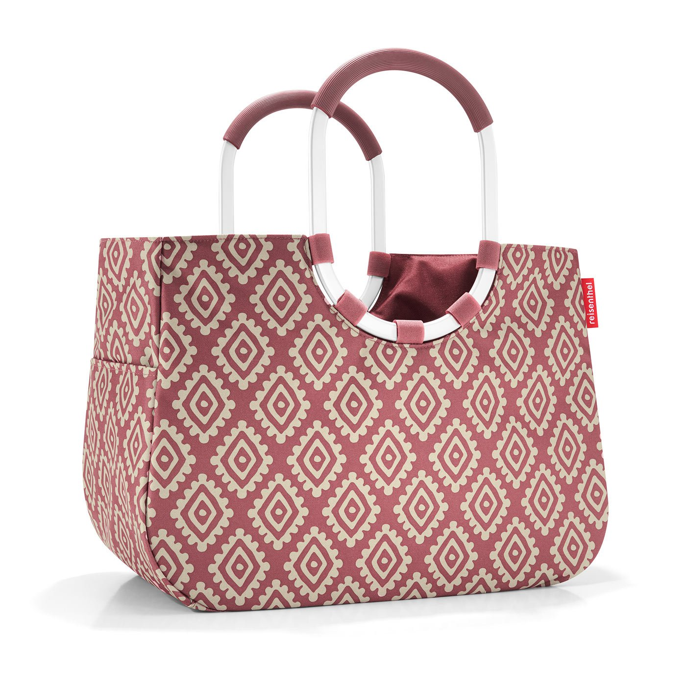 Diamonds Mocha 25 liters 46 cm Reisenthel loopshopper L Canvas /& Beach Tote Bag Brown