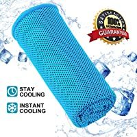 CHRONEX Cooling Towel for Sports, Workout, Fitness, Gym, Yoga, Pilates, Travel, Camping & More