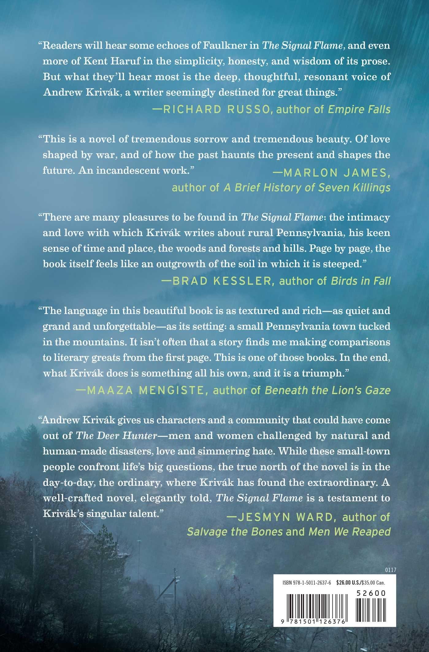 The Signal Flame: A Novel: Andrew Krivak: 9781501126376: Amazon: Books