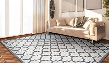 Amazon Com Couristan Marina Garden Gate Oyster Slate Blue Area Rug 3 11 X 5 6 Furniture Decor