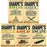 Bernard cornwell the sharpe series 6 to 10 books collection set (rifles, havoc, eagle, gold, escape)