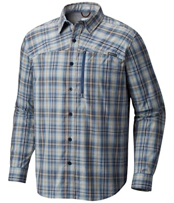 87c8a985ca0 Columbia Mens Battle Ridgelong Button Up Shirt Blue XL at Amazon Men s Clothing  store