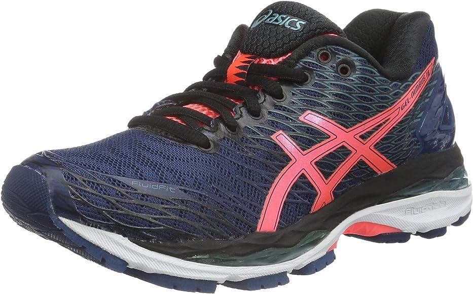 Asics Nimbus 18, Zapatillas de Entrenamiento para Mujer, Azul (Poseidon/Flash Coral/Black), EU: Amazon.es: Zapatos y complementos