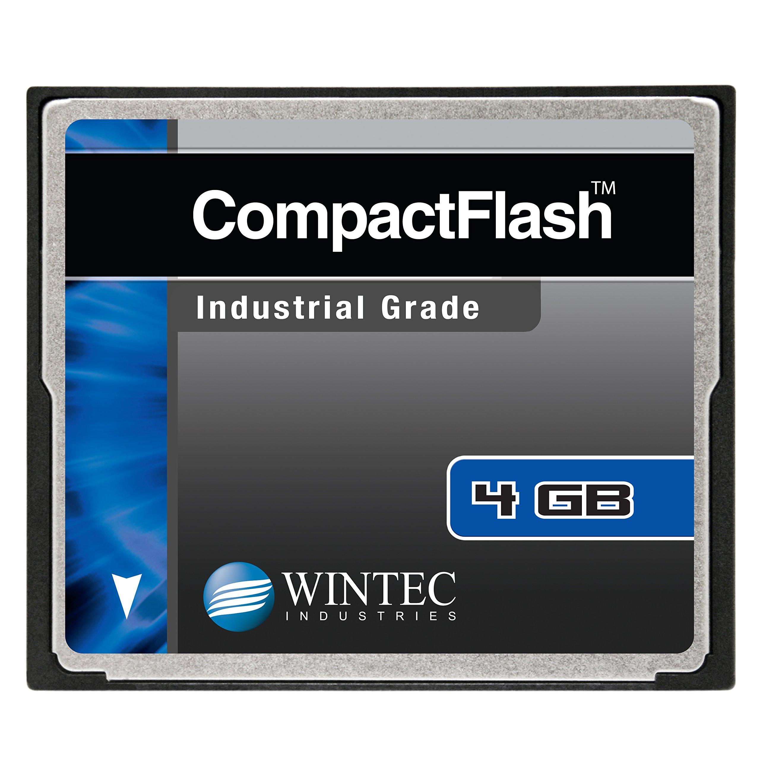 Wintec Compact Flash Card Industrial Grade SLC Nand 4GB, Black (33100004GCF)