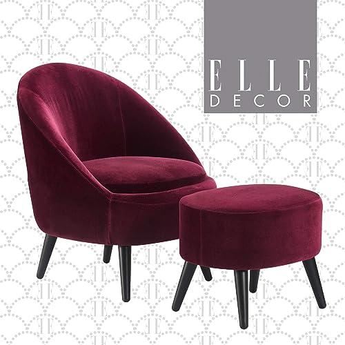 Elle Decor Nico Chair Ottoman