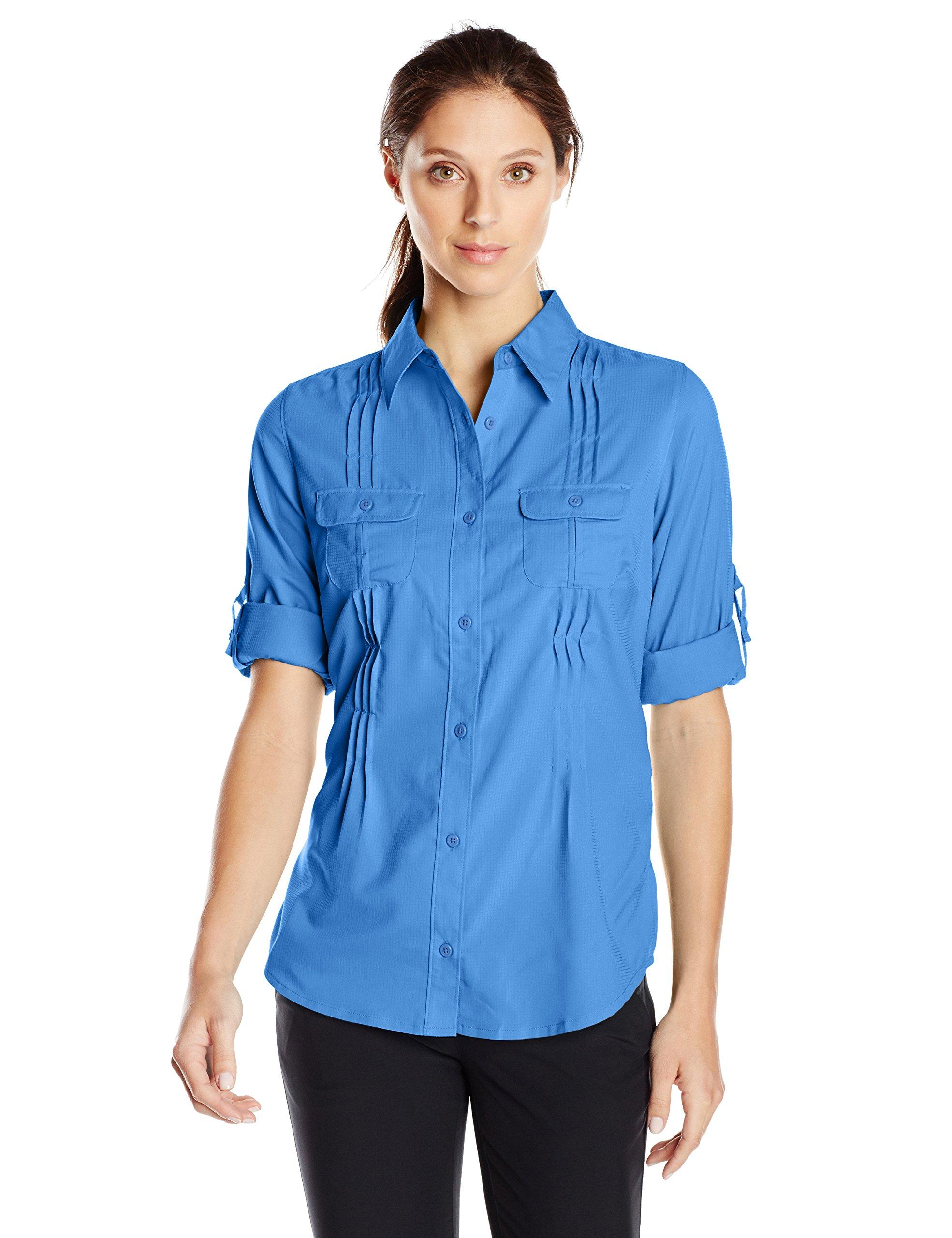 Columbia Women's Sun Goddess II Long Sleeve Shirt, Harbor Blue, X-Small by Columbia