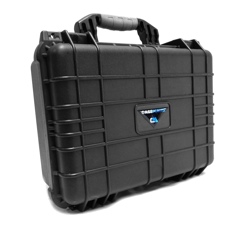 CASEMATIX Armor Travel Carrying Case (16) for Mixer or Controller - Fits Behringer XENYX 1202FX / 802 / Q802USB / 1002FX / QX1002USB / 1002B / 1002 / Q1002USB / QX602MP3 / 1202 RMR16-MXR-BHR