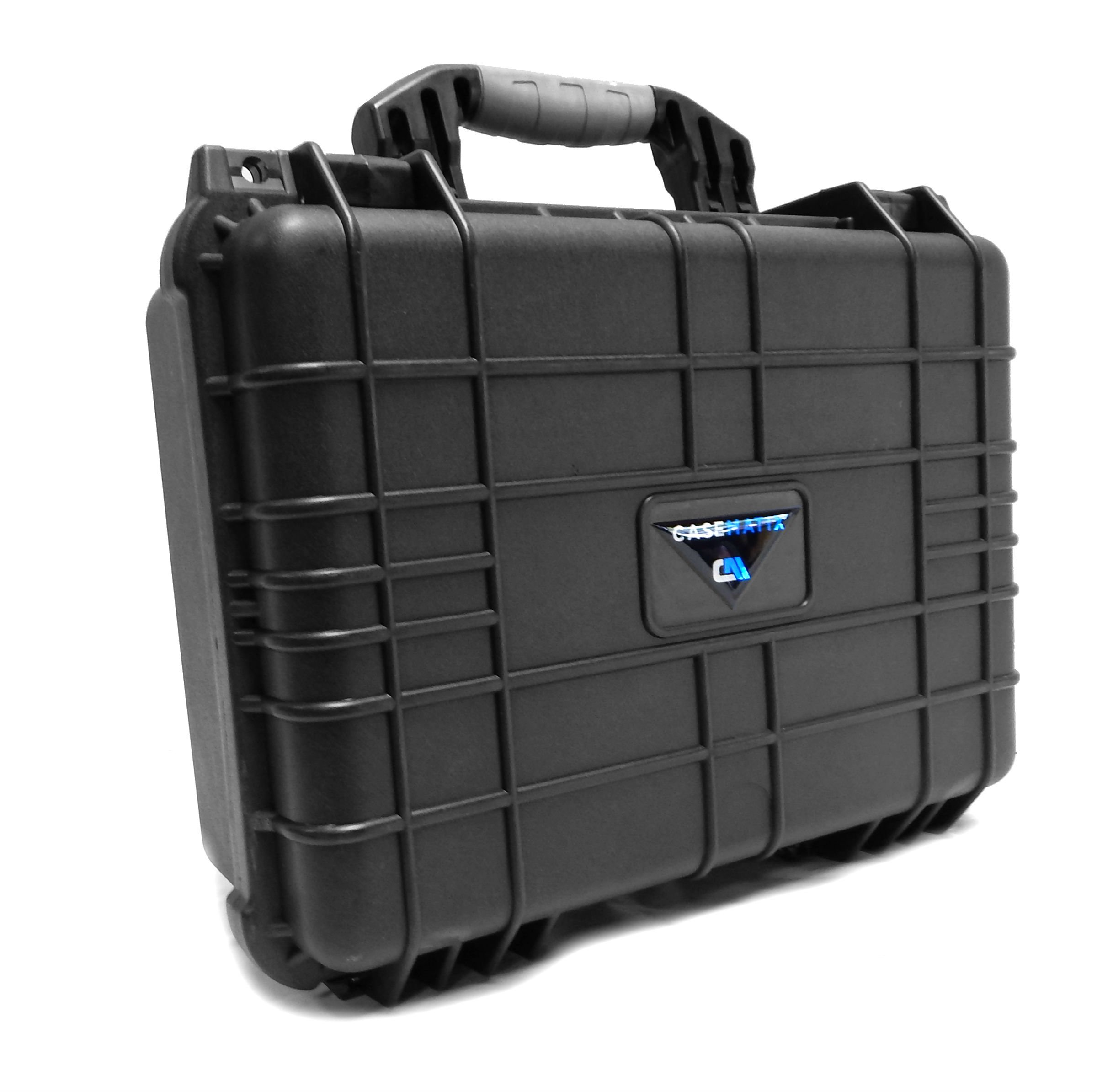 CASEMATIX Armor Travel Carrying Case (16'') for Mixer or Controller - Fits Behringer XENYX 1202FX / 802 / Q802USB / 1002FX / QX1002USB / 1002B / 1002 / Q1002USB / QX602MP3 / 1202