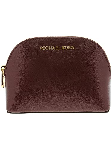 25afbfcf30a4 Amazon.com  Michael Kors Women s Jet Set Travel Large Leather Pouch  Cosmetic Bag - Merlot  Michael Kors  Shoes