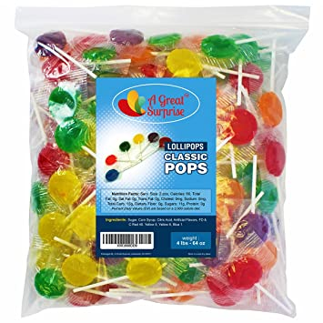 7d5b59ee2b1 Lollipops - Candy Suckers - Classic Lollipops - Assorted Flavors