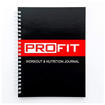 amazon soft cover fitness and food journal by profit workout