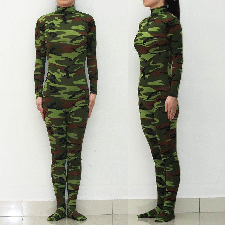 Körper Strumpfhosen/Green Camo einteilige Unterwäsche/Base als eine Bühne Performer Kleidung