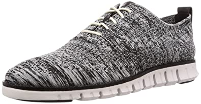 102bc095389 Cole Haan Men's Zerogrand Stitchlite Oxford Black/Optic White/Sleet Knit/Nimbus  Cloud