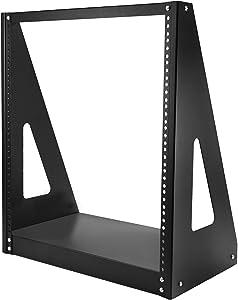 """StarTech.com 12U Heavy Duty 2 Post Open Frame Network Rack - 350lbs - 19"""" Free Standing Desktop Rack for Computer, AV, Media, IT Equipment (2POSTRACK12),Black"""