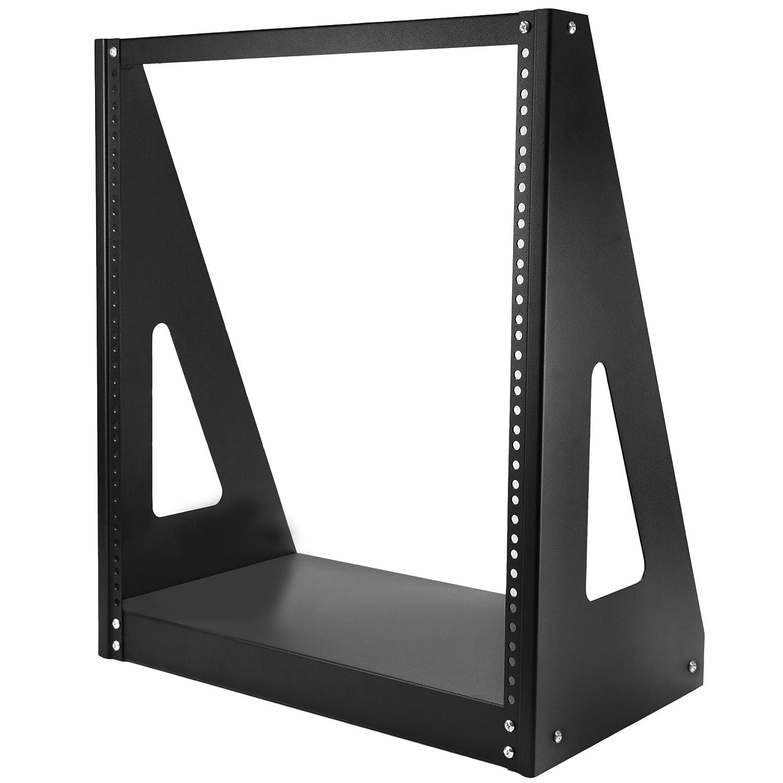 StarTech 4POSTRACK12U 12U Adjustable Depth Open Frame 4 Post Server Rack with Casters/Levelers and Cable Management Hooks, Black STARTECH.COM