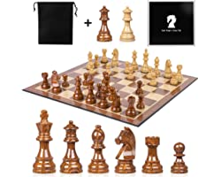High Polymer Weighted Chess Pieces 3.75 Inch King Figures Chess Games Standard Competition Chess Pieces with Extra 2 Queens 2
