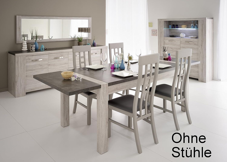 Speisezimmer Portofino grey mit Porenstruktur/ Steinoptik