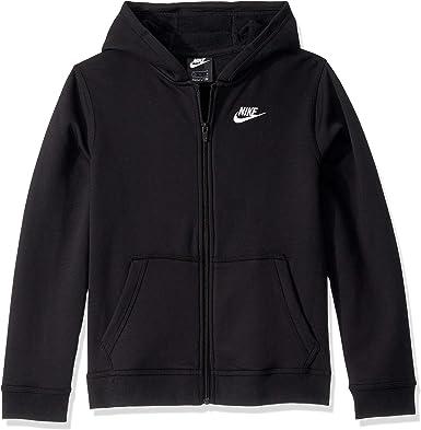 puente torneo Maletín  Amazon.com: Sudadera Nike NSW Club con capucha para niño, con cremallera:  Clothing