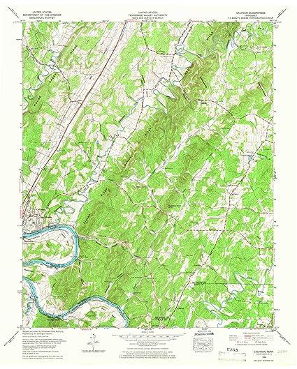 Amazon.com : YellowMaps Calhoun TN topo map, 1:24000 Scale ...