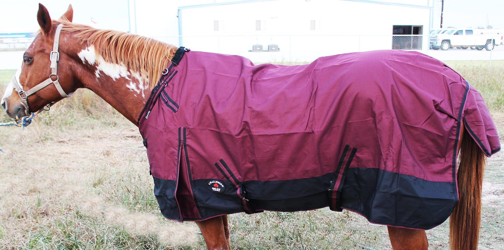 Challenger 78'' 1200D Turnout Waterproof Rain Horse SHEET Light Winter Blanket Gusset 355