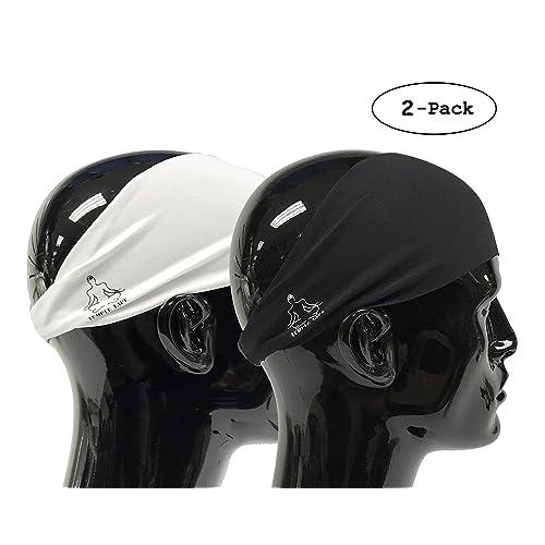Temple Tape Headbands for Men and Women - Mens Sweatband & Sports Headband Moisture Wicking Workout