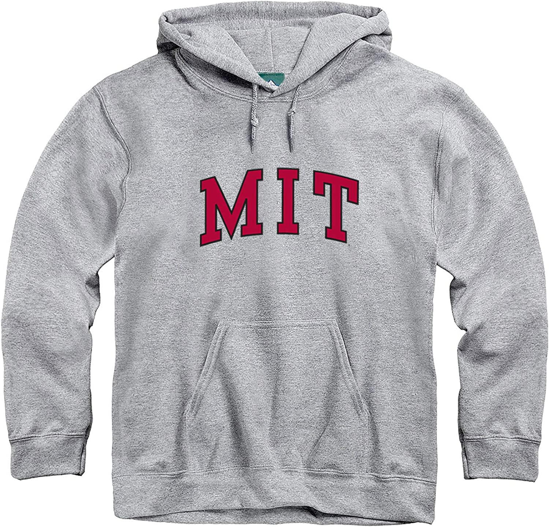 Ivysport Hooded Sweatshirt Premium Grey Heavyweight Cotton Blend Classic Logo
