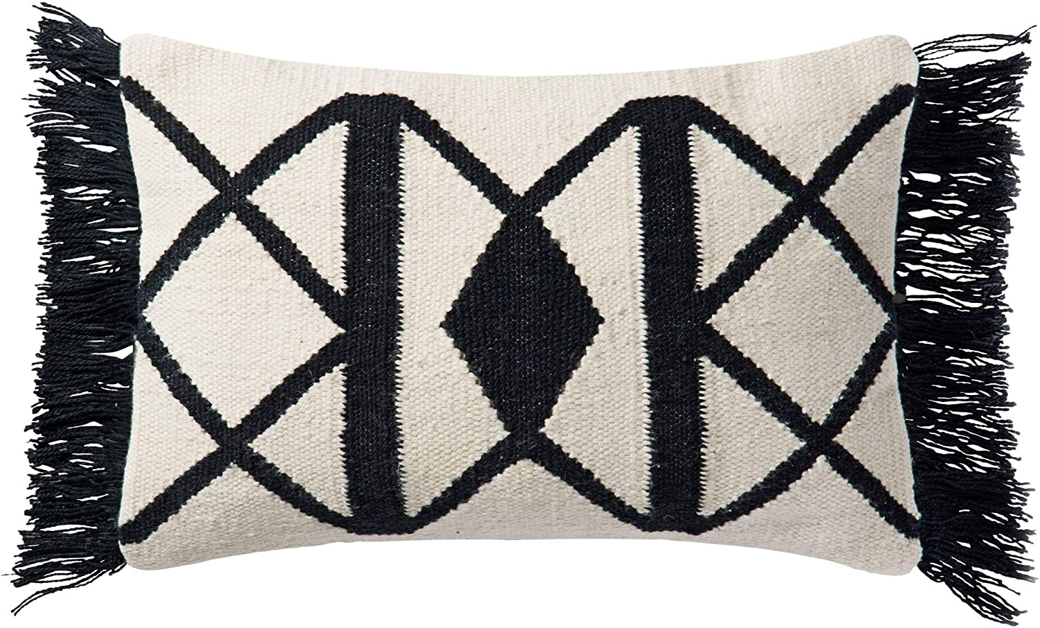 """Shop Loloi Poly Set Black/Ivory Decorative Accent Pillow, 13"""" x 21"""" Cover from Amazon on Openhaus"""