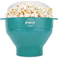 The Original Popco Silicone Microwave Popcorn Popper with Handles, Silicone Popcorn Maker, Collapsible Bowl Bpa Free and…