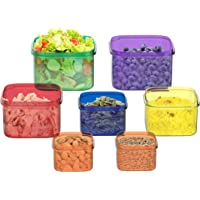 Classic Cuisine Portion Control Containers, 7 Piece Color Coded Food Storage Set