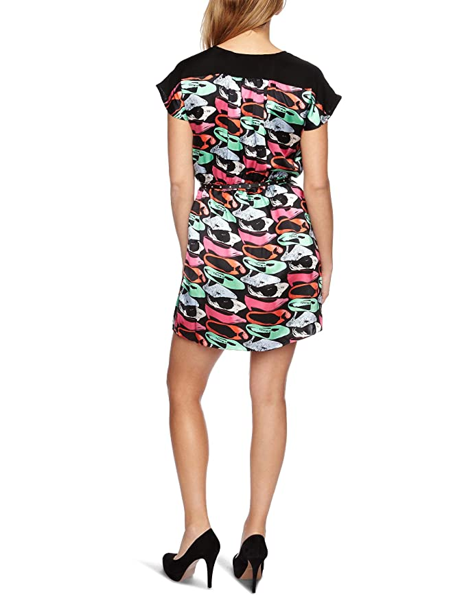Andy Warhol - Vestido - Maxi - para mujer Gris Factory Black 40  Amazon.es   Ropa y accesorios 75acd3692cc