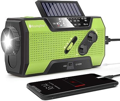 RunningSnail Solar Crank NOAA AM/FM Radio