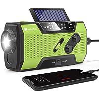 RunningSnail Solar Crank NOAA Weather Radio for Emergency with AM/FM, Flashlight, Reading Lamp…