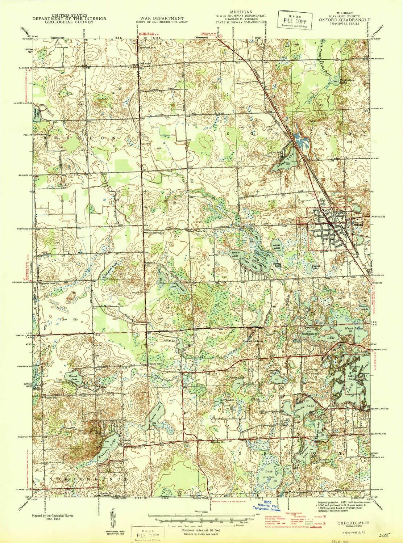 Oxford Mi Map 14 11 Kaartenstemp Nl