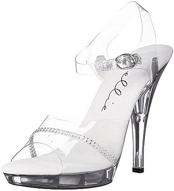 ffe2e9c7829 Ellie Shoes Women s 521-jewel-w Heeled Sandal Clear 6 ...