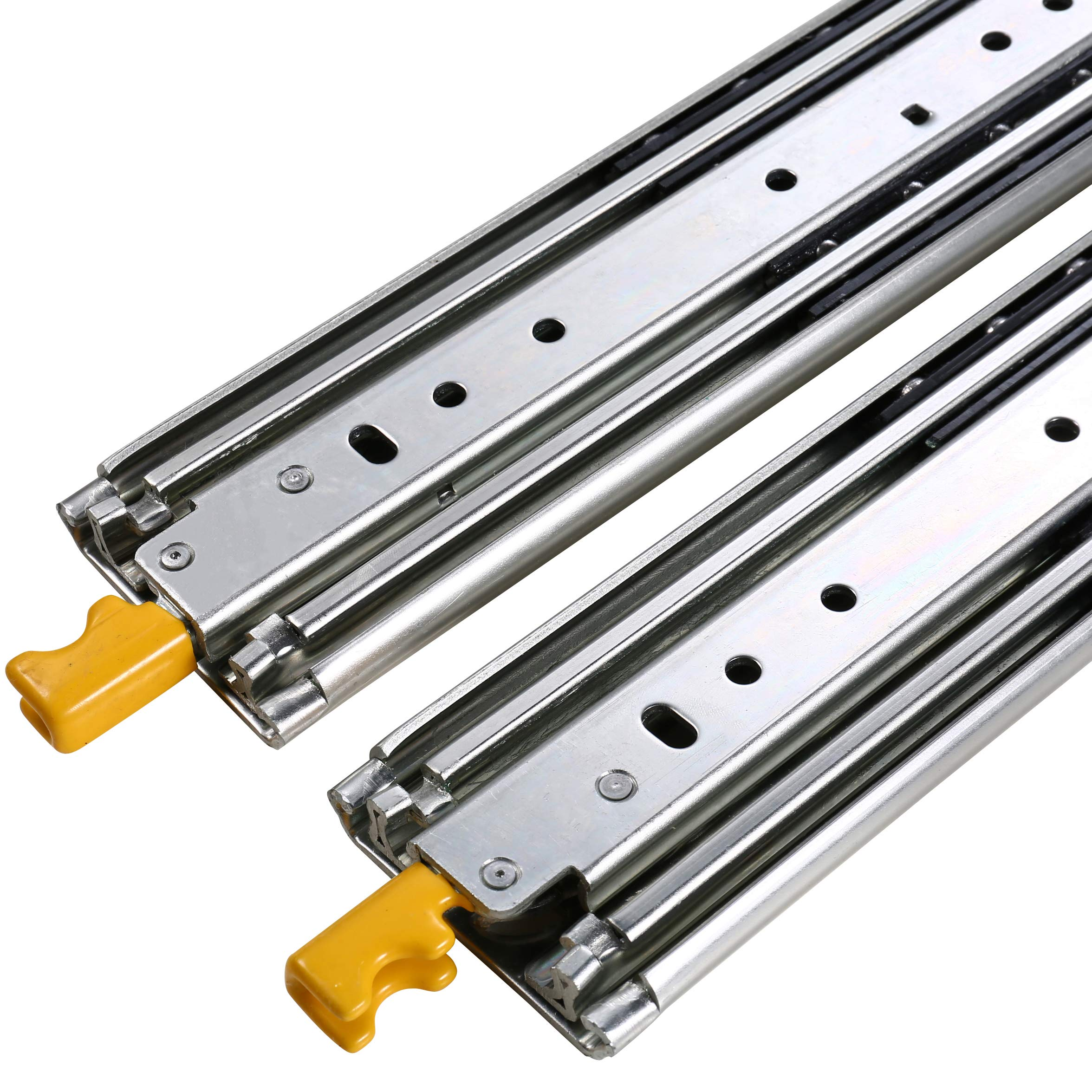 SDPAWA Heavy Duty Drawer Slides 26 Inch with Lock 3 Sections Ball Bearing Full Extension Drawer Sliding Rails Side Mount 480lbs Loading Capacity