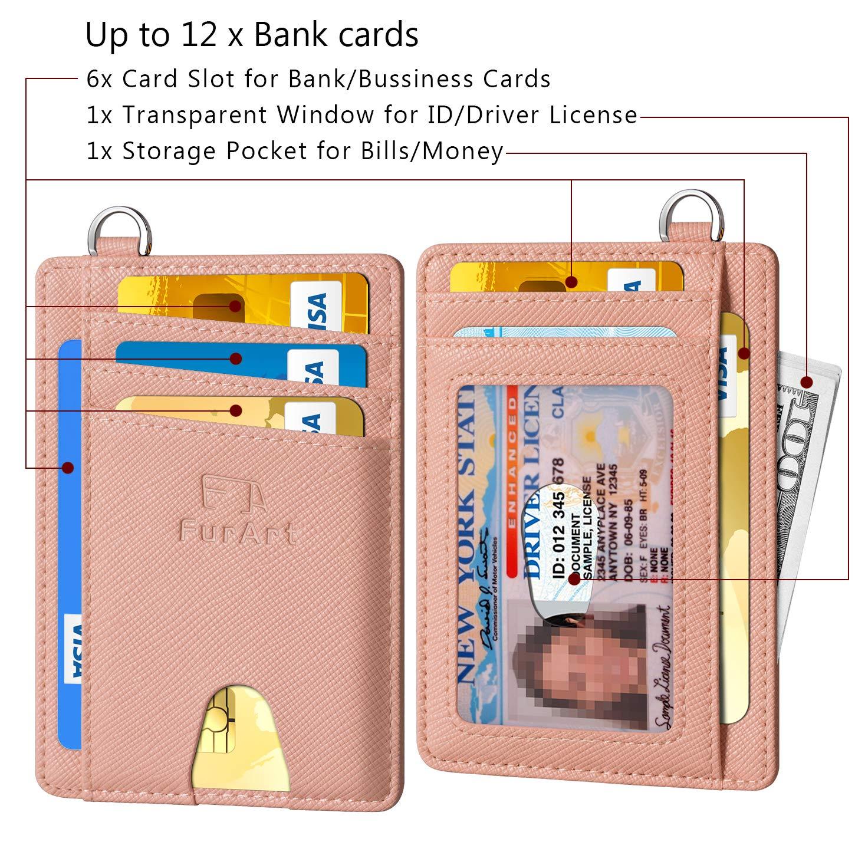 FurArt Slim Minimalist Wallet, Front Pocket Wallets, RFID Blocking, Credit Card Holder with Disassembly D-Shackle by FurArt (Image #6)