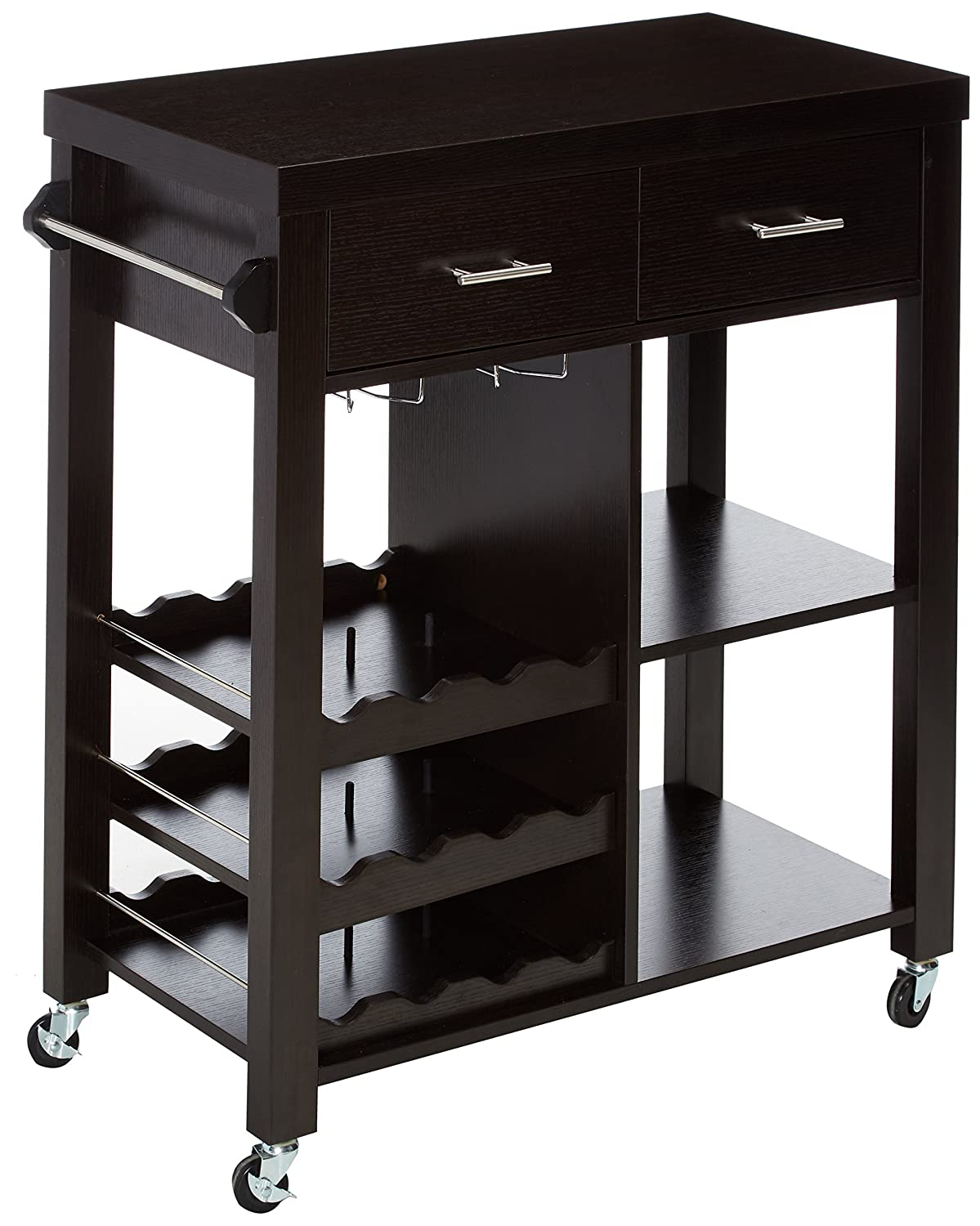 247SHOPATHOME IDI-12581 Kitchen-carts, Cappuccino Furniture of America