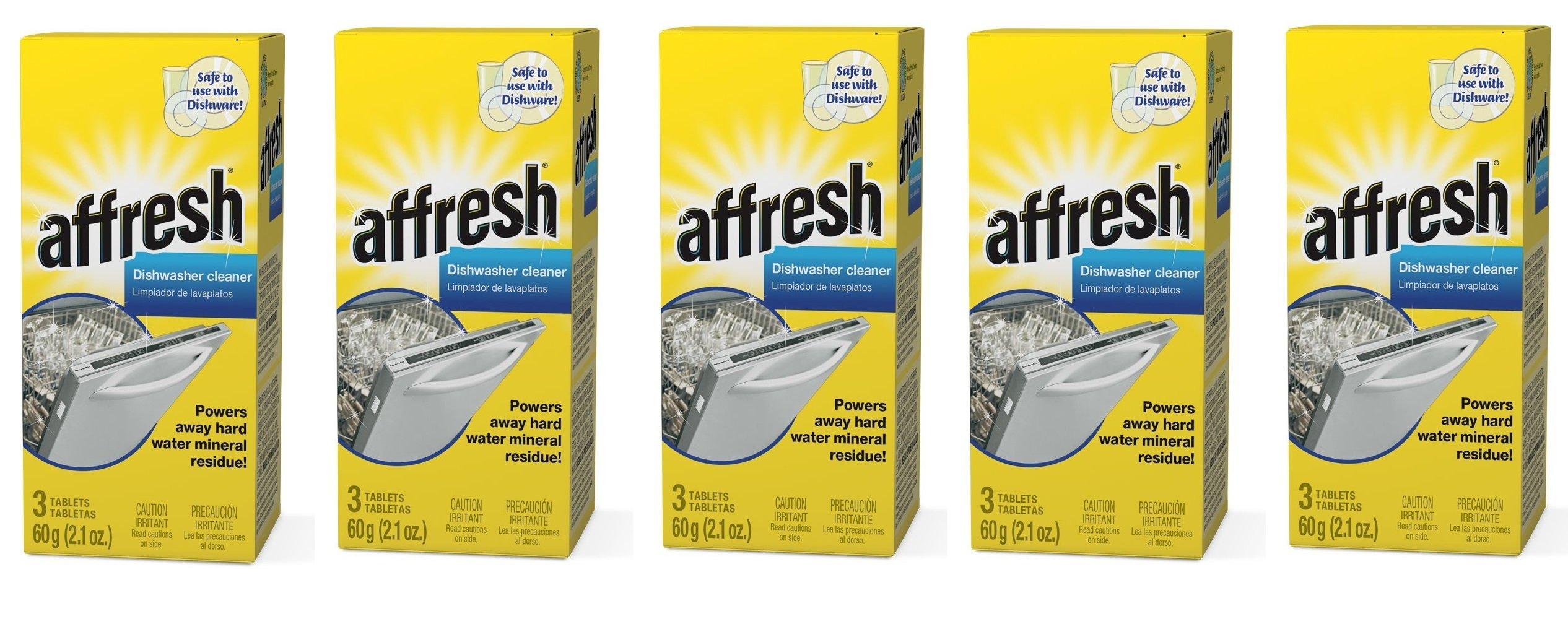 Affresh W10549850 Dishwasher Cleaner RFxjmS, 15 Tablets in Carton