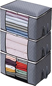 Underbed Clothes Storage Boxes Bags Ziped Organizer Wardrobe Cube Closet Home