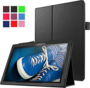 "Asng Lenovo Tab2 A10-70 Case - Slim Folding Stand Cover Smart Case for Lenovo Tab 2 A10-70, Tab 10(TB-X103F) 10.1"" Tablet (Black)"