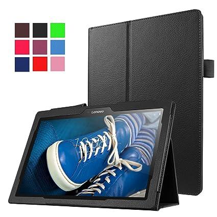 Funluna Lenovo Tab 2 A10-30/70/Tab3 10 Plus Hülle, Ultra Slim PU Lederhülle Smart Case mit Auto Schlaf/Wach Funktion für Leno