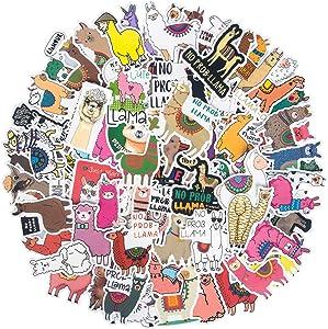 Funny Llama Stickers[100 Pcs], Cute Animal Alpaca Stickers for Kids, Teens, Girl, Waterproof Vinyl Stickers Laptop Stickers Skateboard Stickers for Computer Phone Motorcycle Bicycle