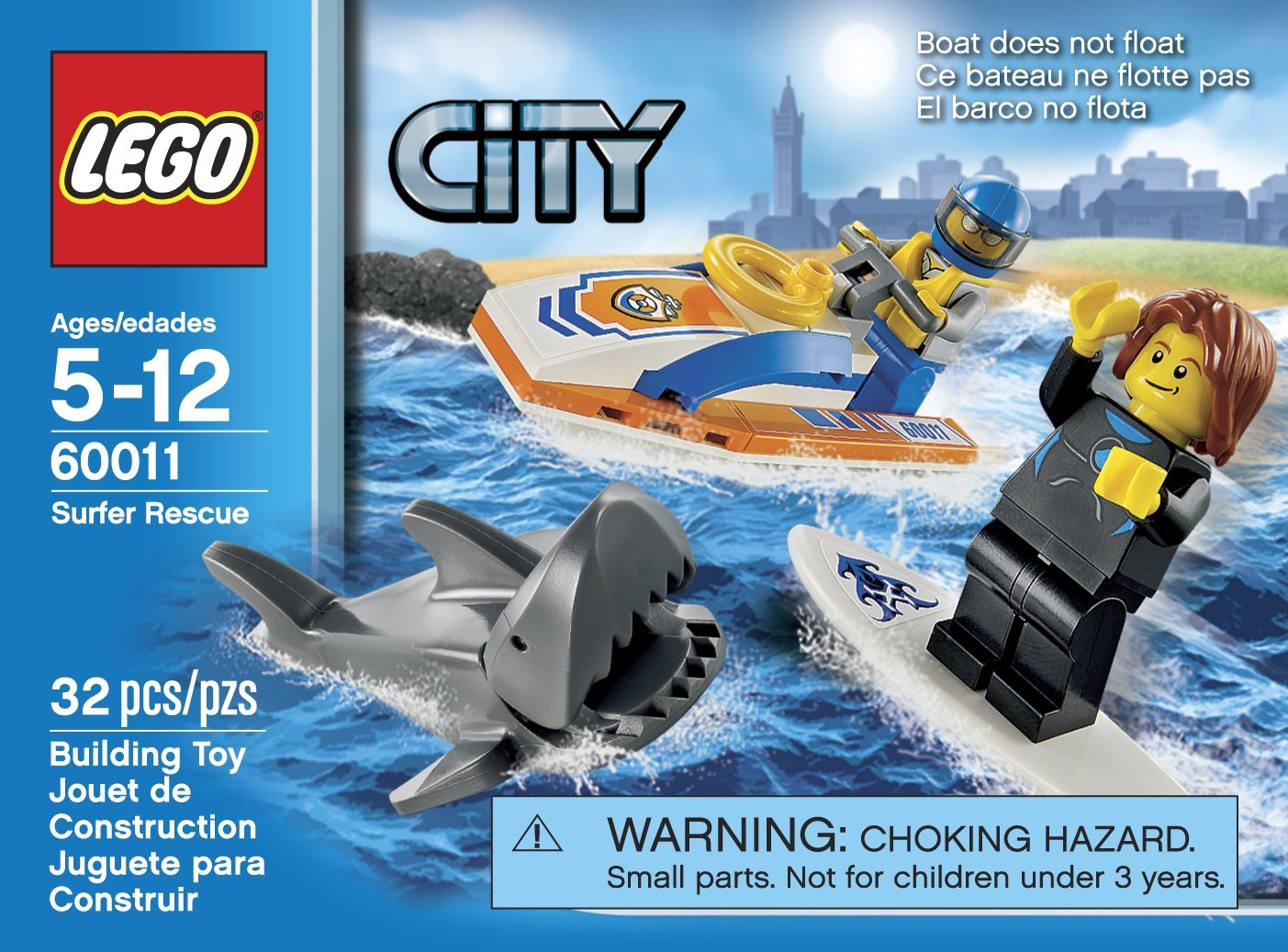 amazoncom lego city 60011 surfer rescue toy building set toys games - Lego City Bateau