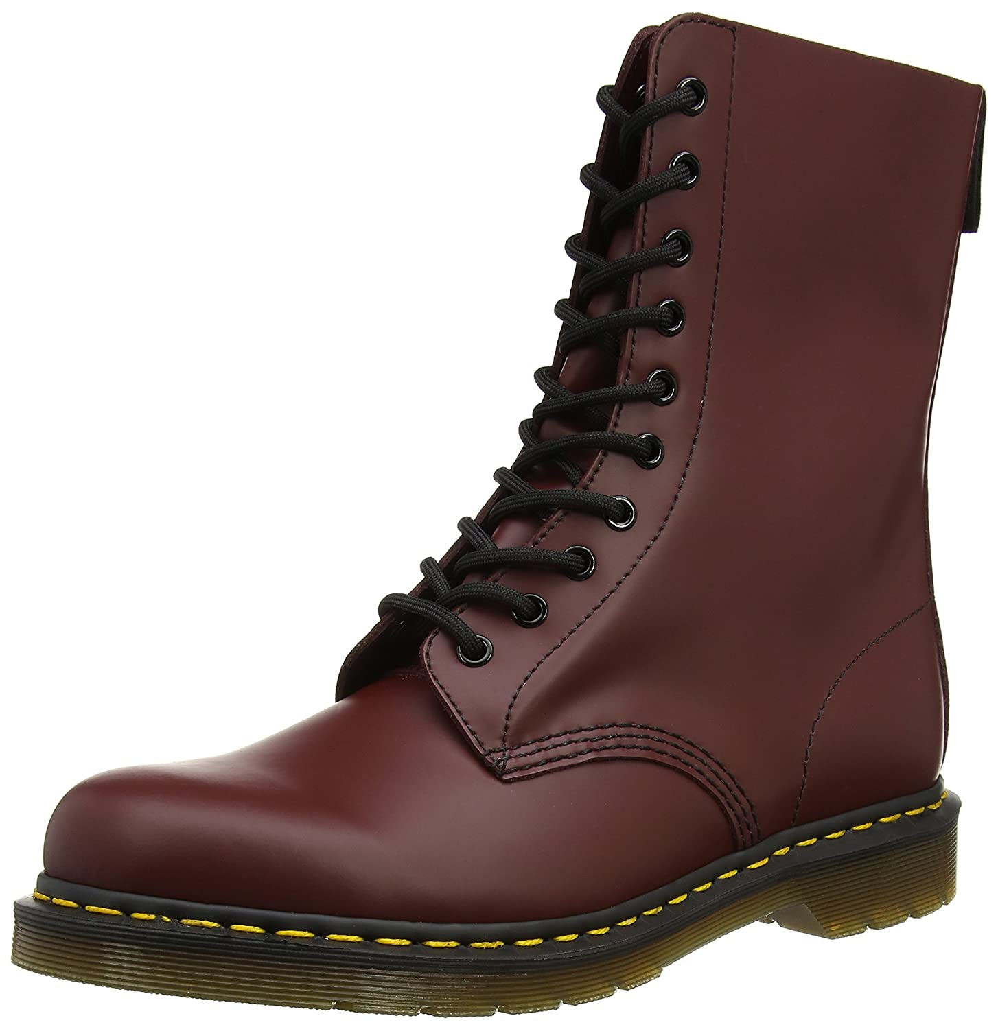 Cherry Red Smooth Dr. Martens Original 10 Eye Boot