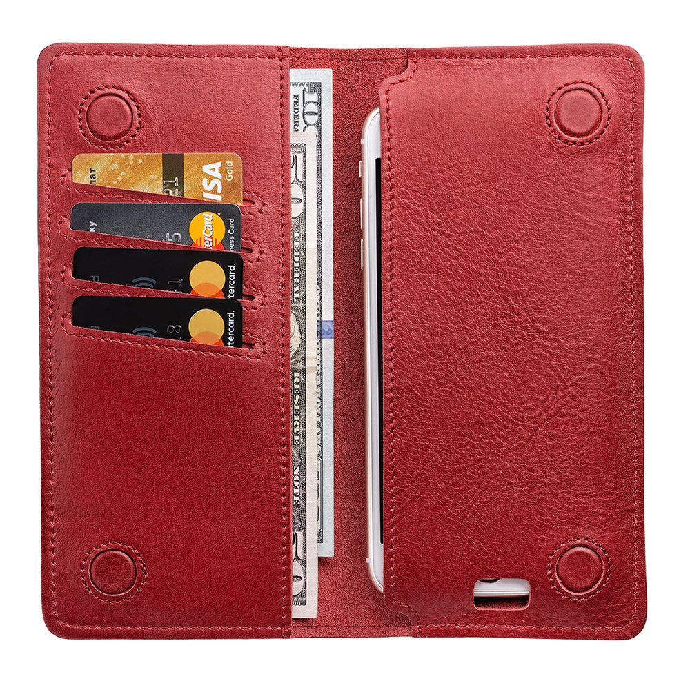 Leather Travel Wallet - Phone Pocket - Long Bifold Wallet Men| Gift Box