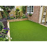 Eurotex Artificial Grass Carpet Mat for Covering Balcony, Lawn, Door (PE & PP, Size 6.5x10 Feet, 25mm 4-Tone Green Color)