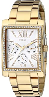 GUESS Womens U0446L2 Stunning Retro Gold-Tone Multi-Function Watch