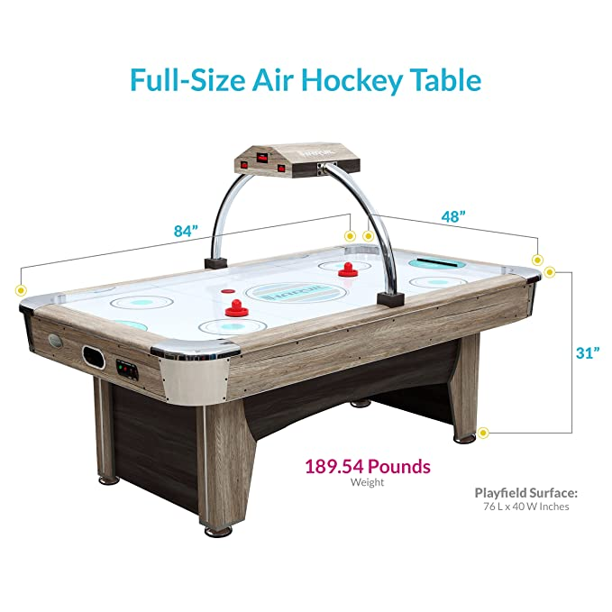 Amazoncom Harvil Beachcomber Inch Indoor Air Hockey Table With - Dicks sporting goods pool table